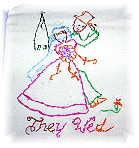 7 Hand Embroidered Floursack Towels (Image1)