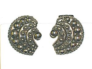Sterling Silver Bizantine Look Clip Earrings (Image1)