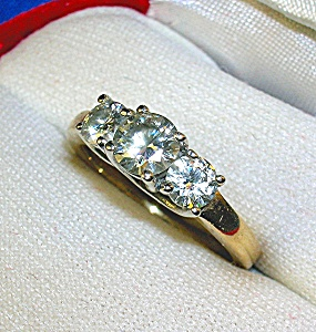 Ring 14K Yellow Gold Moissanite Anniversary  (Image1)