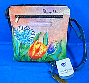Anuschka Hand Painted Turkish Tulips Cross Body
