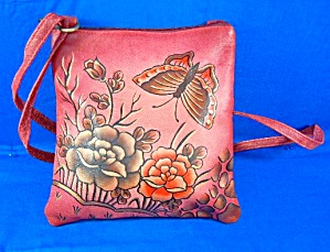 Hand Painted Pink Roses Cross Body By Greca India