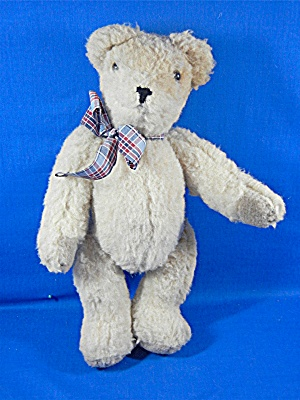 Teddy Bear Plush Fully Jointed Plaid Bow 12 Inches (Image1)