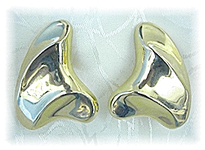 Earrings 14K Yellow Gold Post French Back Pierced (Image1)