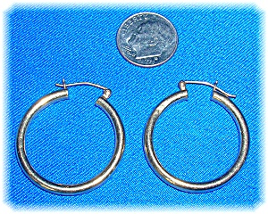 Earrings 14K Yellow Gold Hoops  (Image1)