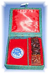 Oriental Double Dragon Soapstone Chop (Image1)