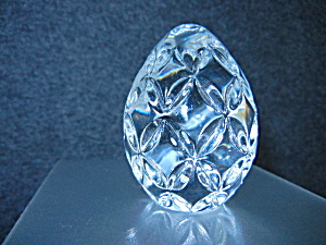 Waterford Crystal Clear Egg Handcooler Paperweight