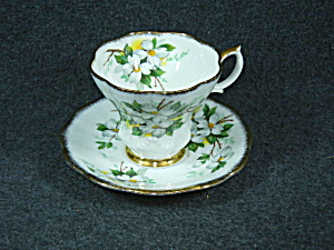 Vintage Royal Albert Bone China White Dogwood Pattern