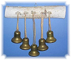 Silver Birch With 5 Brass bells. (Image1)