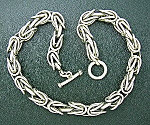 Necklace Sterling large Link Silver 100grams Toggle  (Image1)