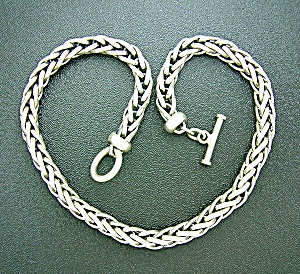 Necklace Sterling Silver 18 1/2 Inch  Toggle 100gr (Image1)