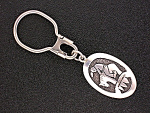 Native American Tommy Singer Sterling Silver Key Fob (Image1)