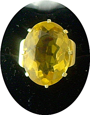 Ring 14K Yellow Gold Golden Citrine  (Image1)
