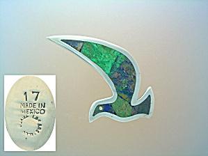 Sterling Silver LOS CASTILLO Inlay Bird Brooch 17 (Image1)