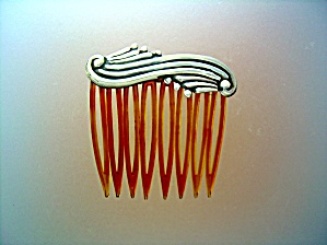 Sterling Silver Hair Comb Mexico Signed AB (Image1)