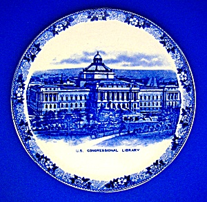 Flow Blue Us Congressional Library Adams China England