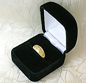 18K Gold Diamond Antique Hallmarked Ring . . . (Image1)