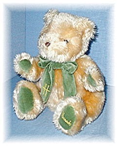 Soft  &Cuddly Green & Gold HARRODS Teddy Bear (Image1)