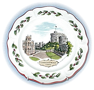 1980 Wedgewood Christmas Windsor Castle Plate