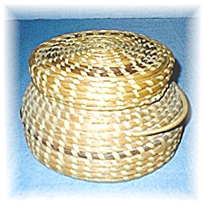 American Indian Papago Basket With Lid (Image1)