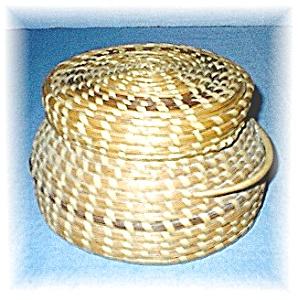 Papago Basket with Lid Native American Arizona (Image1)