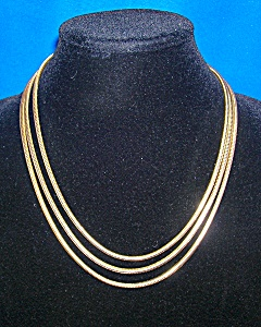 Vintage 60 Inch Long Vintage Snake Silver Muff Chain (Image1)