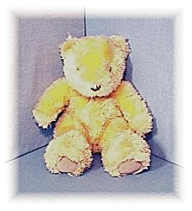 Fluffy Golden Teddy Bear. (Image1)