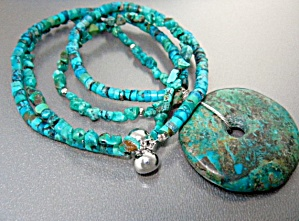Turquoise Artist Design Necklace And Pendant