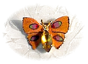 Pair Of Butterfly Brooch Pins West Germany