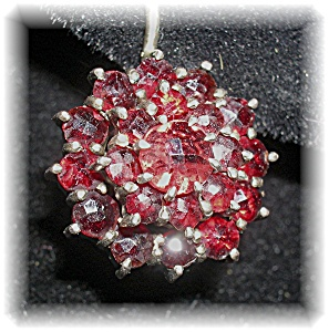 Antique Garnet and Gold Leverback Earrings (Image1)