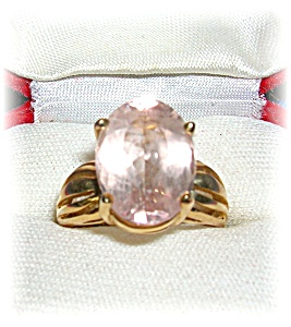 Ring 14K Yellow Gold and Oval Citrine  (Image1)