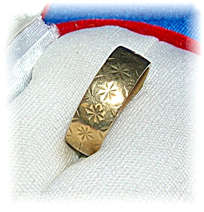 Hallmarked European Yellow Gold Wedding Band . . . . .