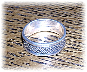 Sterling Silver Handmade Patterned Ring . . . . . . (Image1)