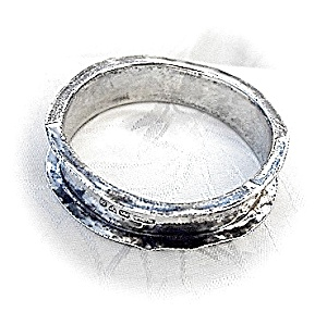 Sterling Silver Napkin Ring As Ishallmarked