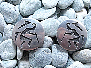 Sterling Silver HOPI Clip Earrings Dancer (Image1)