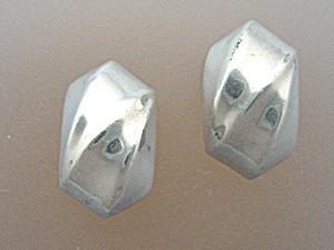 Sterling Silver Clip Swirl Earrings (Image1)