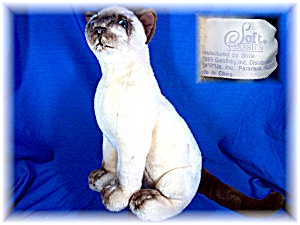 Soft Classics 1995 Siamese Cat Stuffed Animal Toy (Image1)