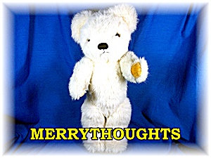 Cream colored Merrythoughts Teddy Bear 16 inches tall (Image1)