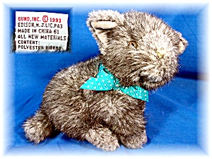 GUND gray Kitten 5 inches tall. (Image1)
