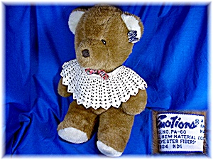 Vintage 1984 Teddy Bear Brown Plush Emotions (Image1)