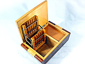 Box Cigarette Wood Marquetry Musical