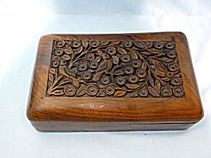 carved wooden box, hinged  (Image1)