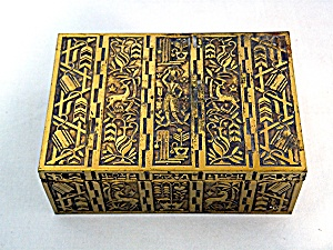 Brass Box hinged Wood Bottom Israel (Image1)