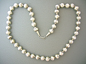 Sterling Silver 24 Inch Handmade Beads 11mm (Image1)