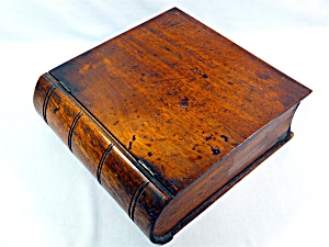 Antique Wooden Box Hinged Book