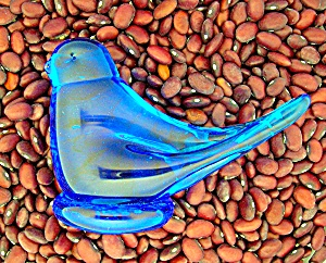 Blue Bird Glass By RON RAY 1988  (Image1)