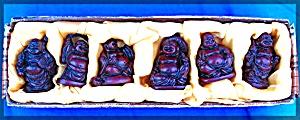 Buddha Statues - Tibetan Laughing Buddhas - set of 6 (Image1)