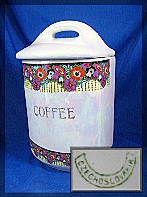 Vintage Czechoslovakia Porcelain Coffee  Canister (Image1)