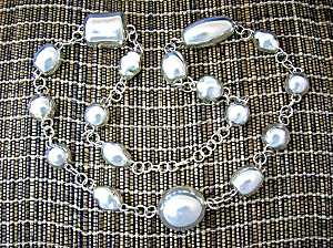Necklace Sterling Silver 36 Inch Israel 156 Grams