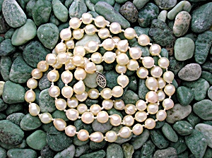 Freshwater Baroque Pearl 30 Inch Necklace 7mm