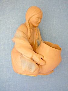 Van Briggle Coloraado Springs Indian Maiden with Pot (Image1)